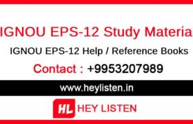 EPS-12 Study Material