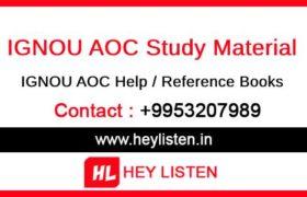 IGNOU AOC Study Material