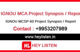 IGNOU MCSP-060 Project Report