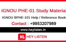 IGNOU PHE1 Study Material