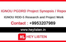 IGNOU RDD-5 Research