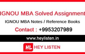 IGNOU MBA Solved Assignment