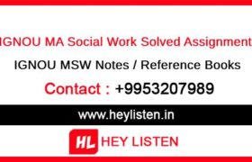 IGNOU MSW Solved Assignment