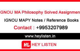 IGNOU MAPY Assignment Solution