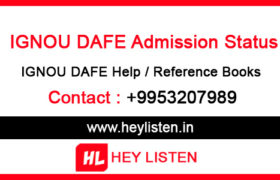 Ignou-DAFE-Admission-Status