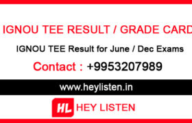 Ignou-TEE-Result